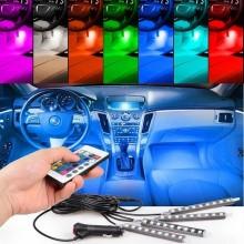 Kit iluminare ambientala led interior masina