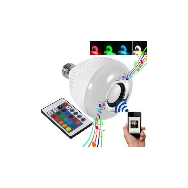 Bec bluetooth LED cu boxa, jocuri de lumini si telecomanda