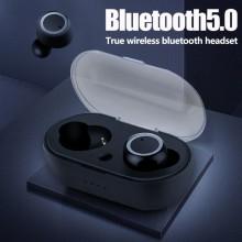 Casti Bluetooth Wireless TWS Techstar® Earbud cu Tehnologie BT 5.0 Negru
