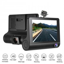 Camera Video Auto Tripla DVR Premium Reflection Vision, Full-HD, 3 Camere - Fata/Spate/Interior,