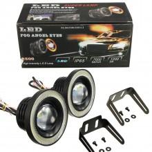 Set 2 Proiectoare cu Lupa LED 76 mm