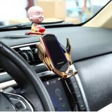 Suport auto cu incarcator wireless si senzor inteligent Smart Sensor R1, USB, functie Fast Charge
